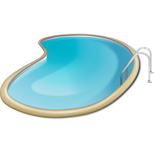 Swimming transparent pool. A png images pluspng