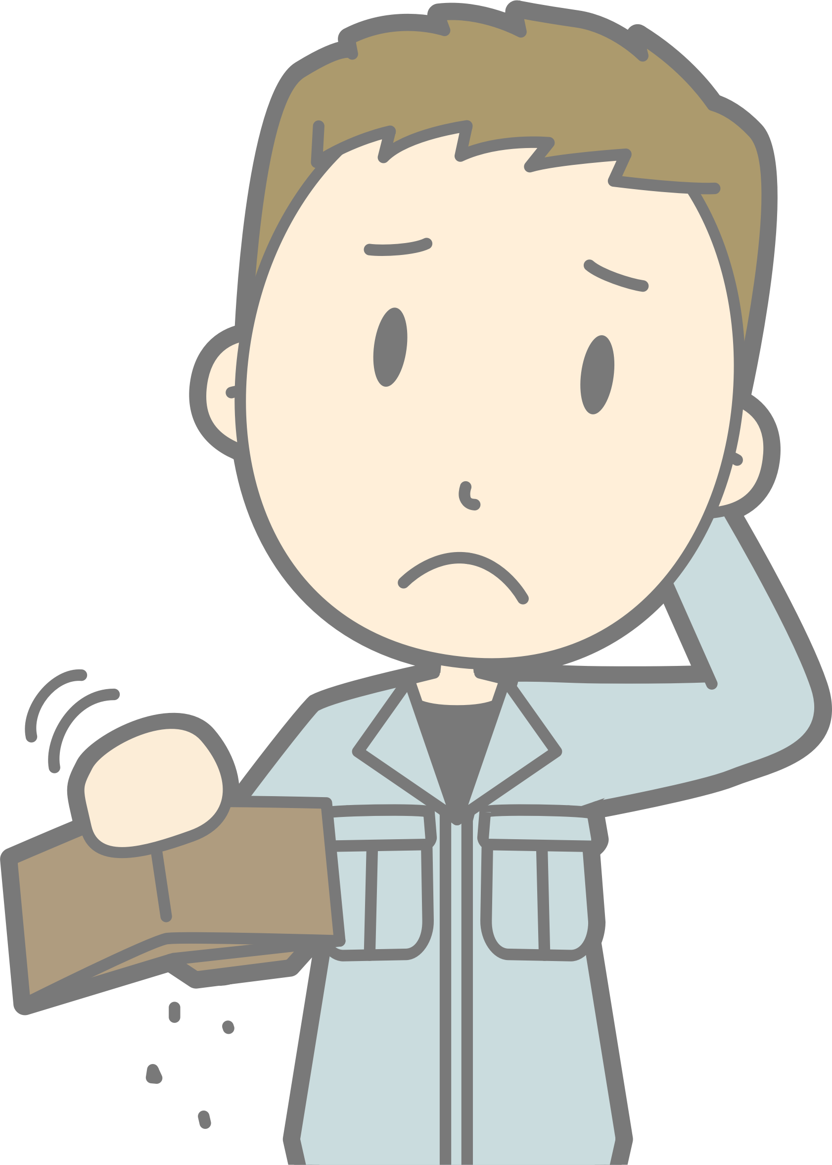 Poor clipart. Male big image png
