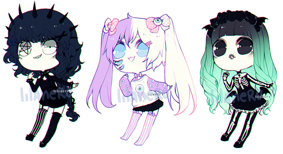 Poor drawing goth. Pastel adopts closed by