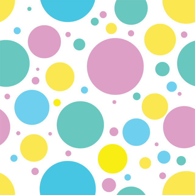 Pop art background dots png. Circle abstract seamless pattern