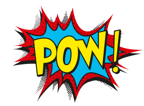 Pop art transparent background. Pow logo png svg black and white library