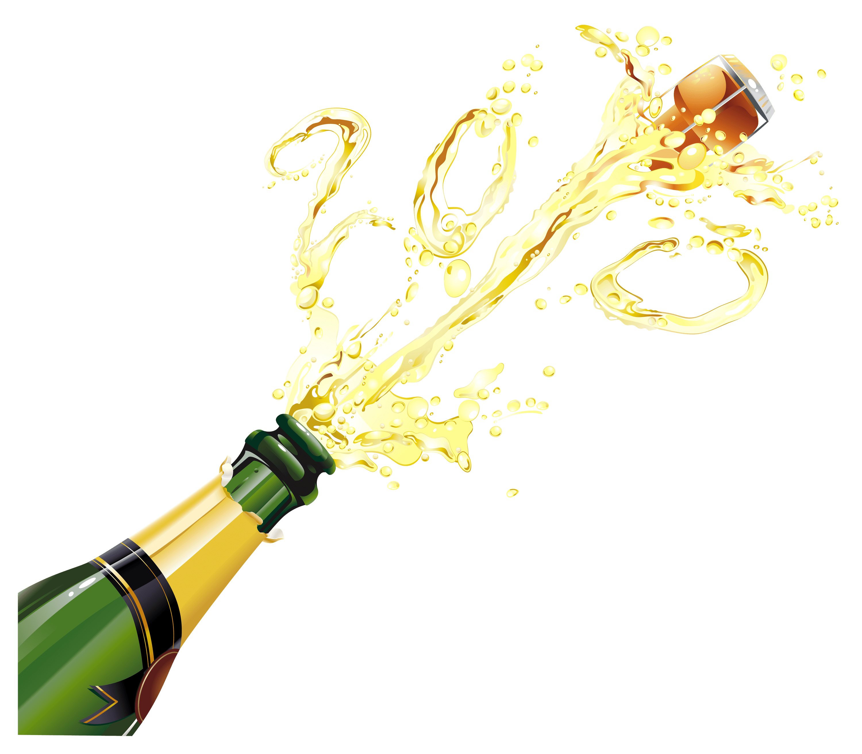 Pop vector champagne. Transparent png stickpng