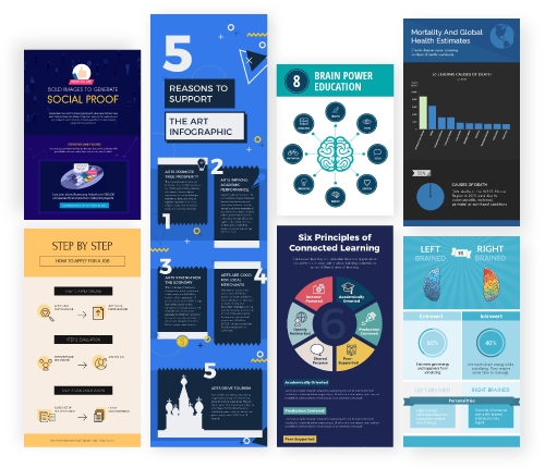 Steps vector infographic template. Make free infographics reports