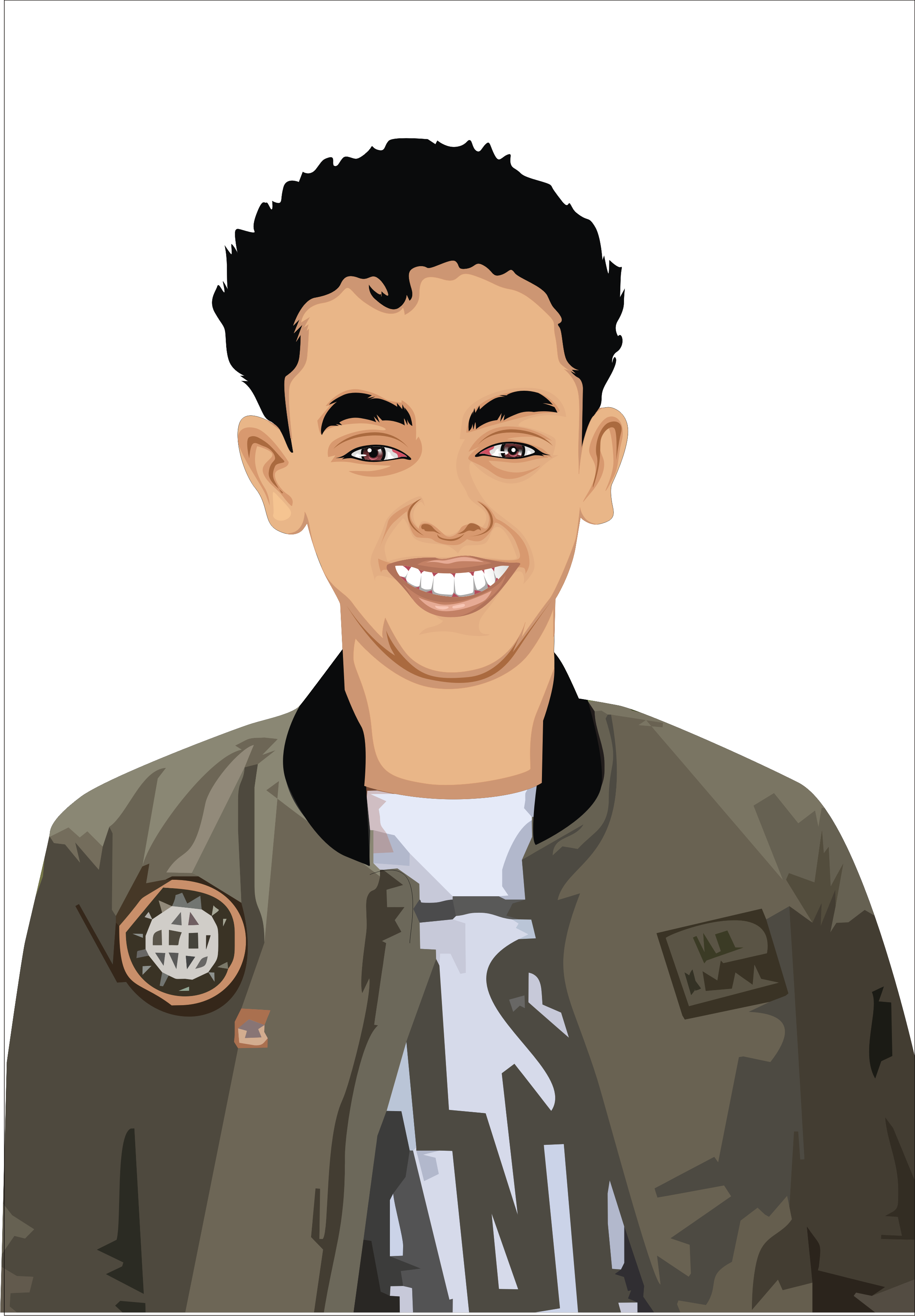 Pop vector person. Draw classic art within