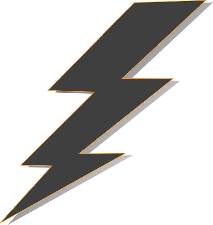Pop vector thunder. Collection of free bolted