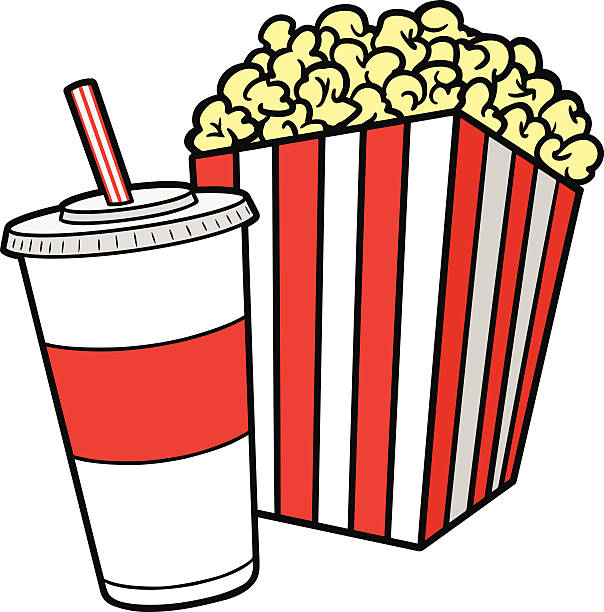 Popcorn clipart. Cilpart exciting and soda