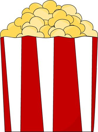 Border clipart popcorn. Best images on pinterest