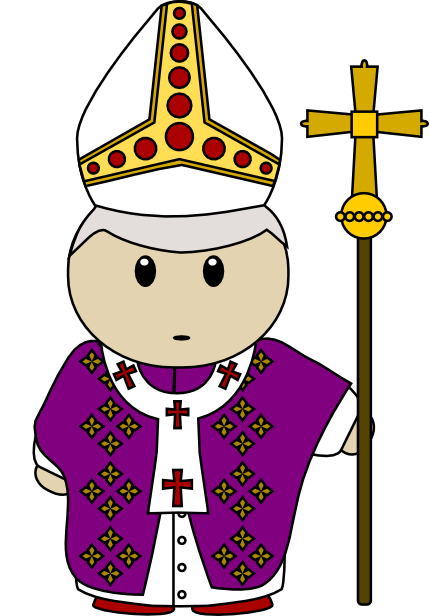 Priest clipart pope hat. Vector clip art image
