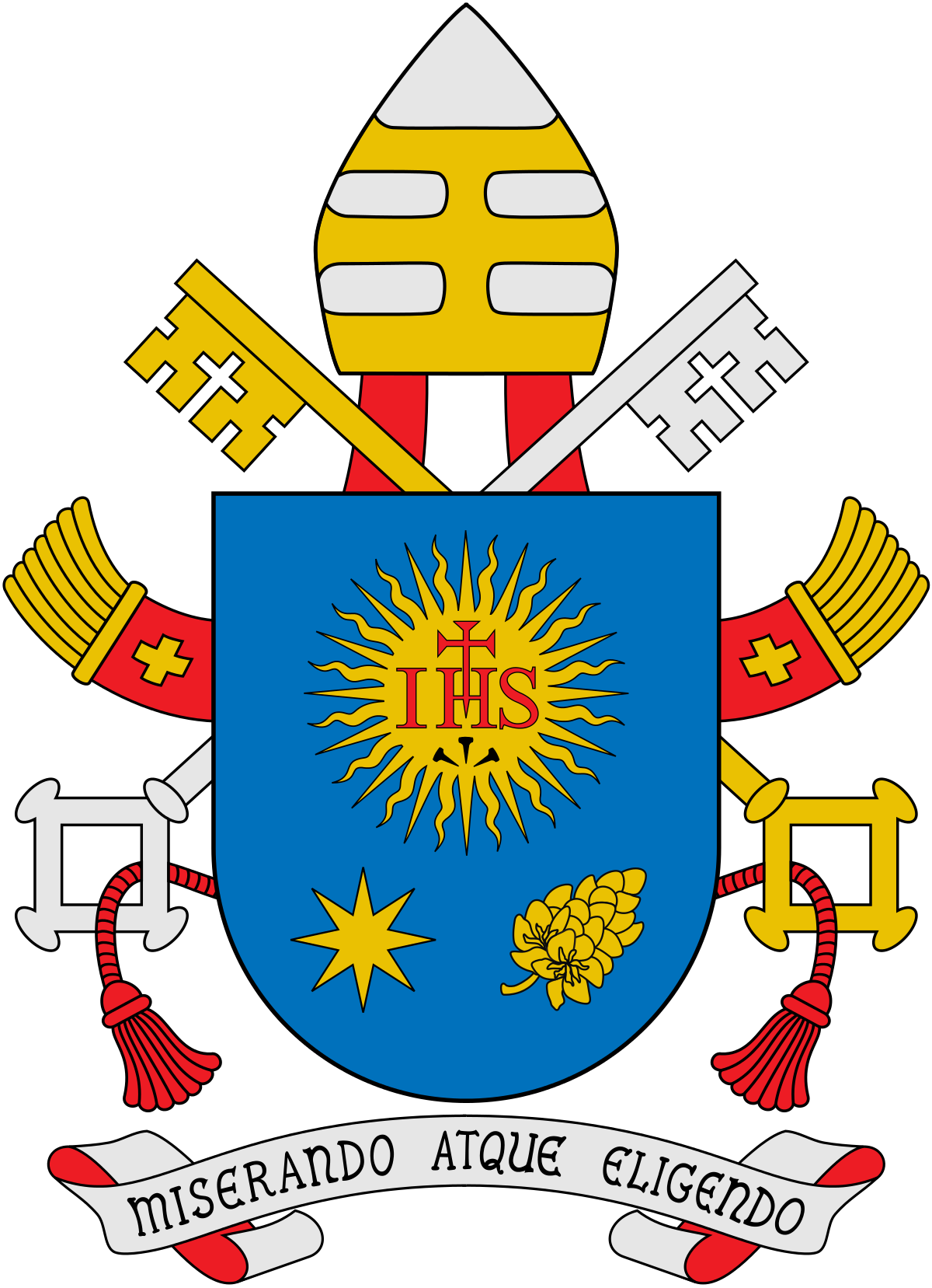 Coat of arms pope. Banner clip crest royalty free download