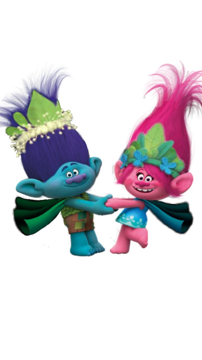 Poppy png trolls. King branch and queen