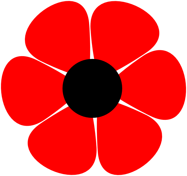 Poppy clipart black and white. Free flower cliparts download