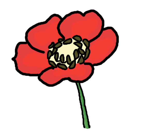 Poppy clipart black and white. Free cliparts download clip