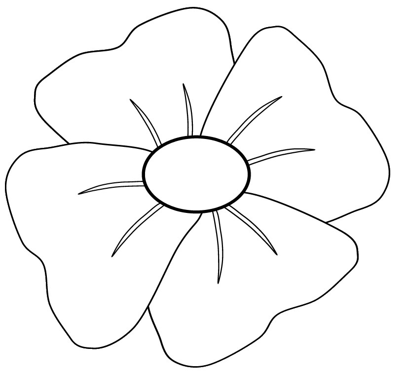 Poppy clipart black and white. Clip art to colour