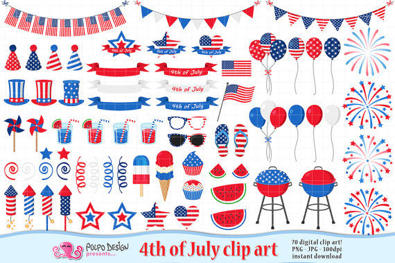 America clipart. Th of july