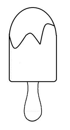 Popsicle clipart bite template. Pattern use the printable
