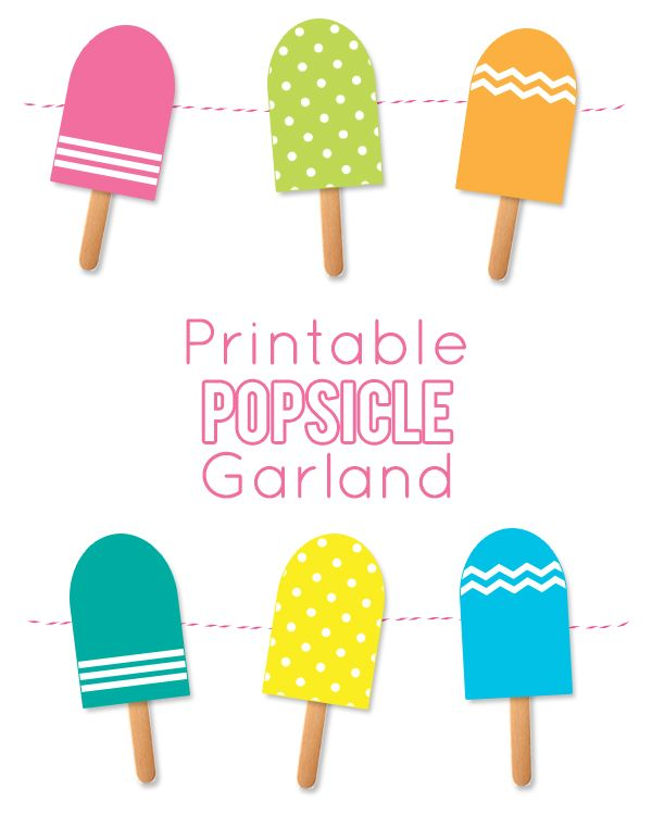 Popsicle clipart bite template. Best summer crafts