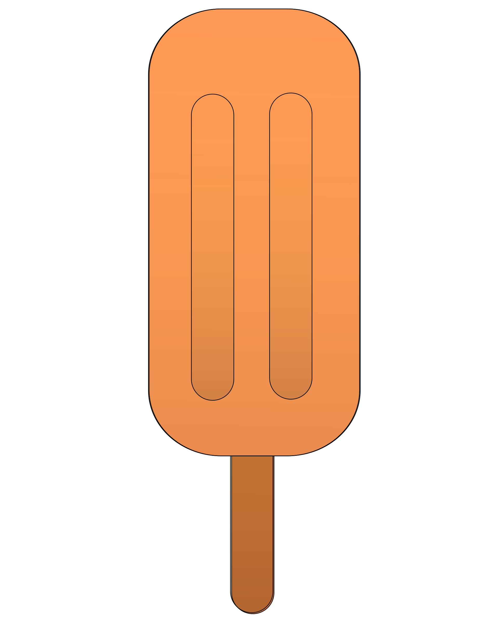 Popsicle png. Orange icons free and