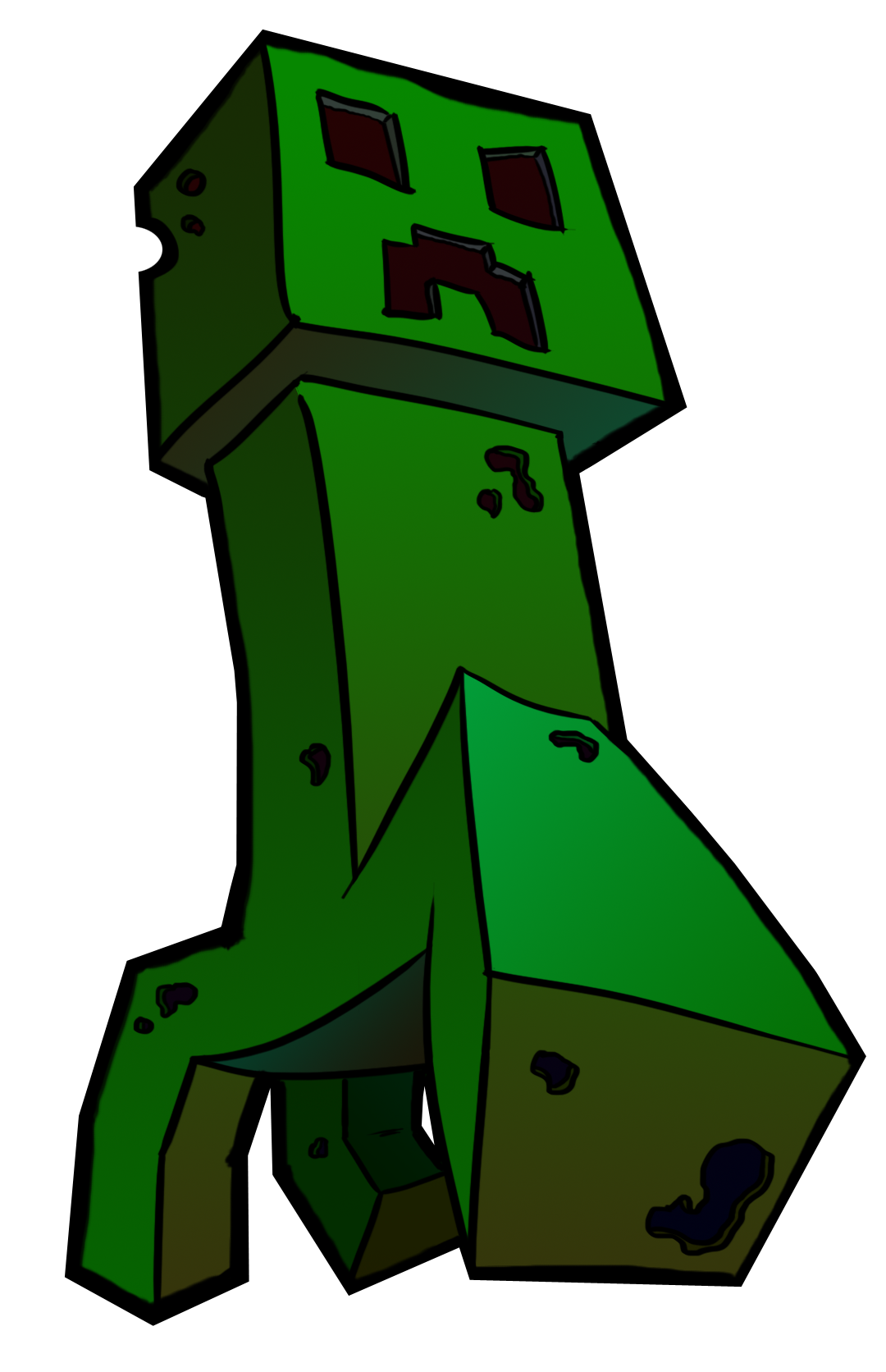 Popularmmos drawing creeper. Minecraft by effji on