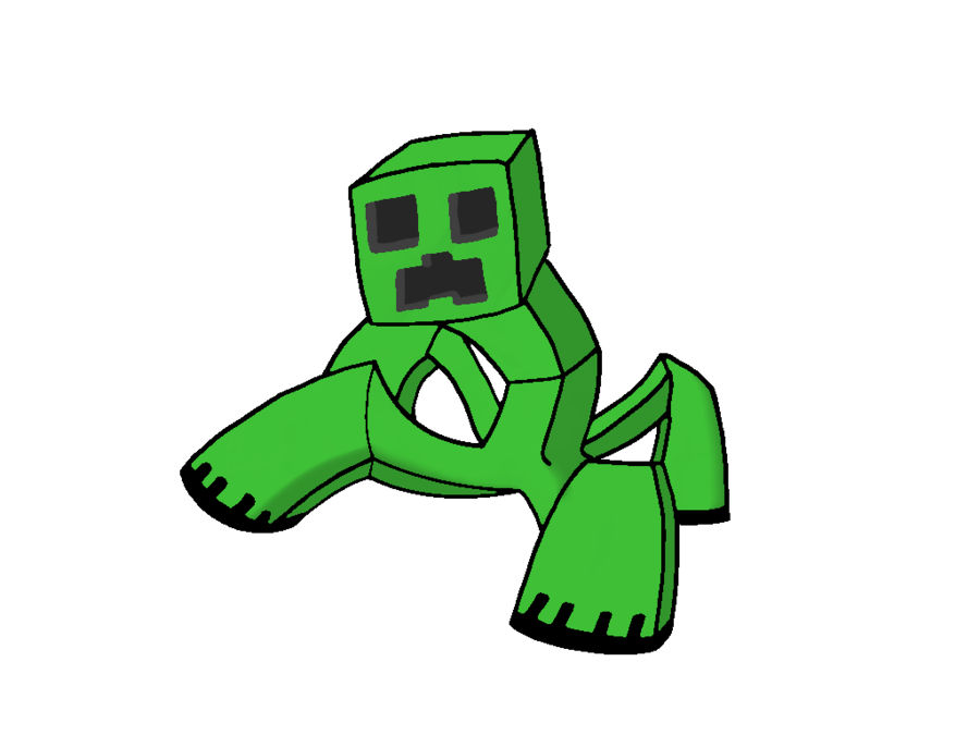 Popularmmos drawing creeper. Sasha the mutant by