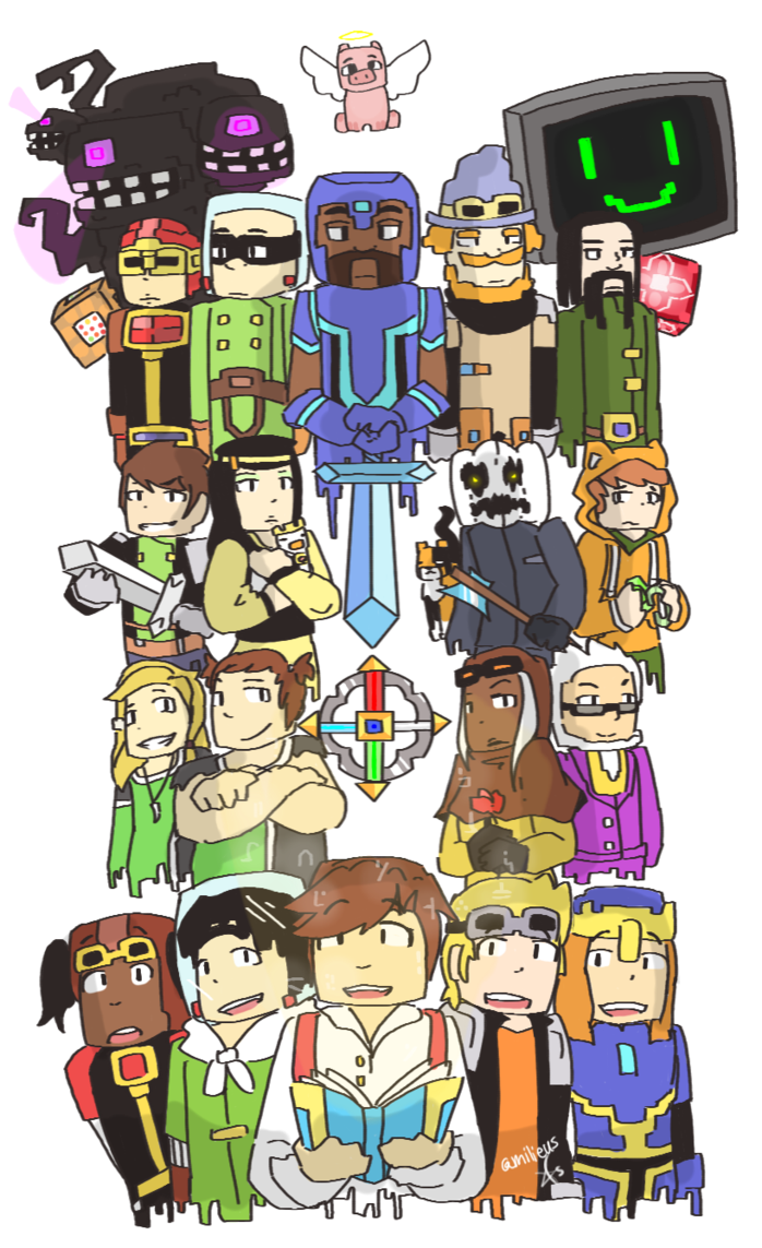 Popularmmos drawing minecraft story mode. By milieus on deviantart