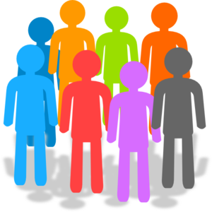 Group vector youth. Population clip art at