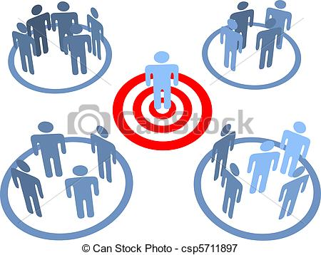 Aim at targeted people. Population clipart market target banner royalty free library