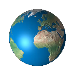 Population drawing earth planet. D interactive globe