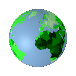 Population drawing globe world. D interactive earth