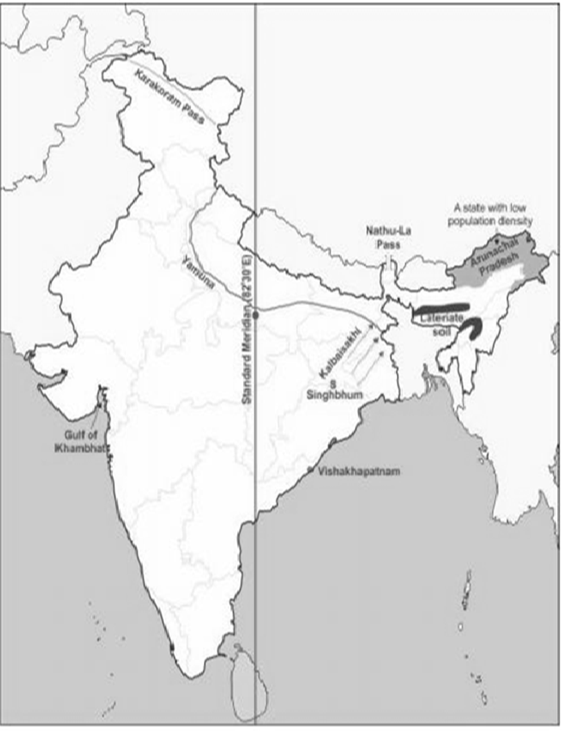 Population drawing india. On the outline map