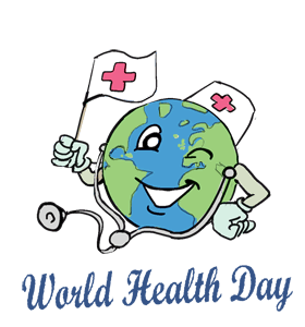 Population drawing world day. Health calendar history events