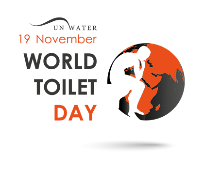 Population drawing world day. Home toilet organization november