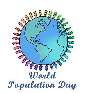 Population drawing world day. Calendar history facts when
