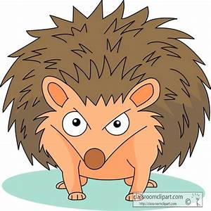 porcupine clipart angry cartoon
