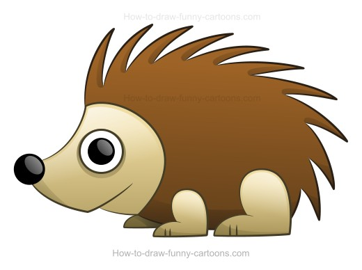 Porcupine clipart drawn. How to draw a