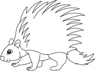 Porcupine clipart tree. From panda free images
