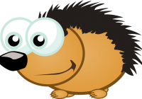 Porcupine clipart white background. Vector image of an