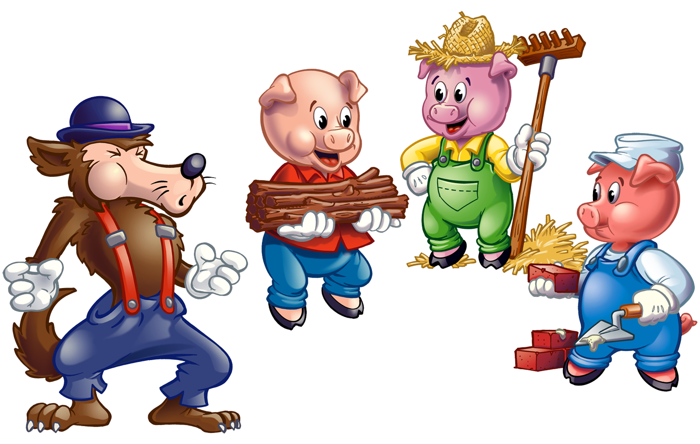 Pork drawing bad pig. Little pigs http