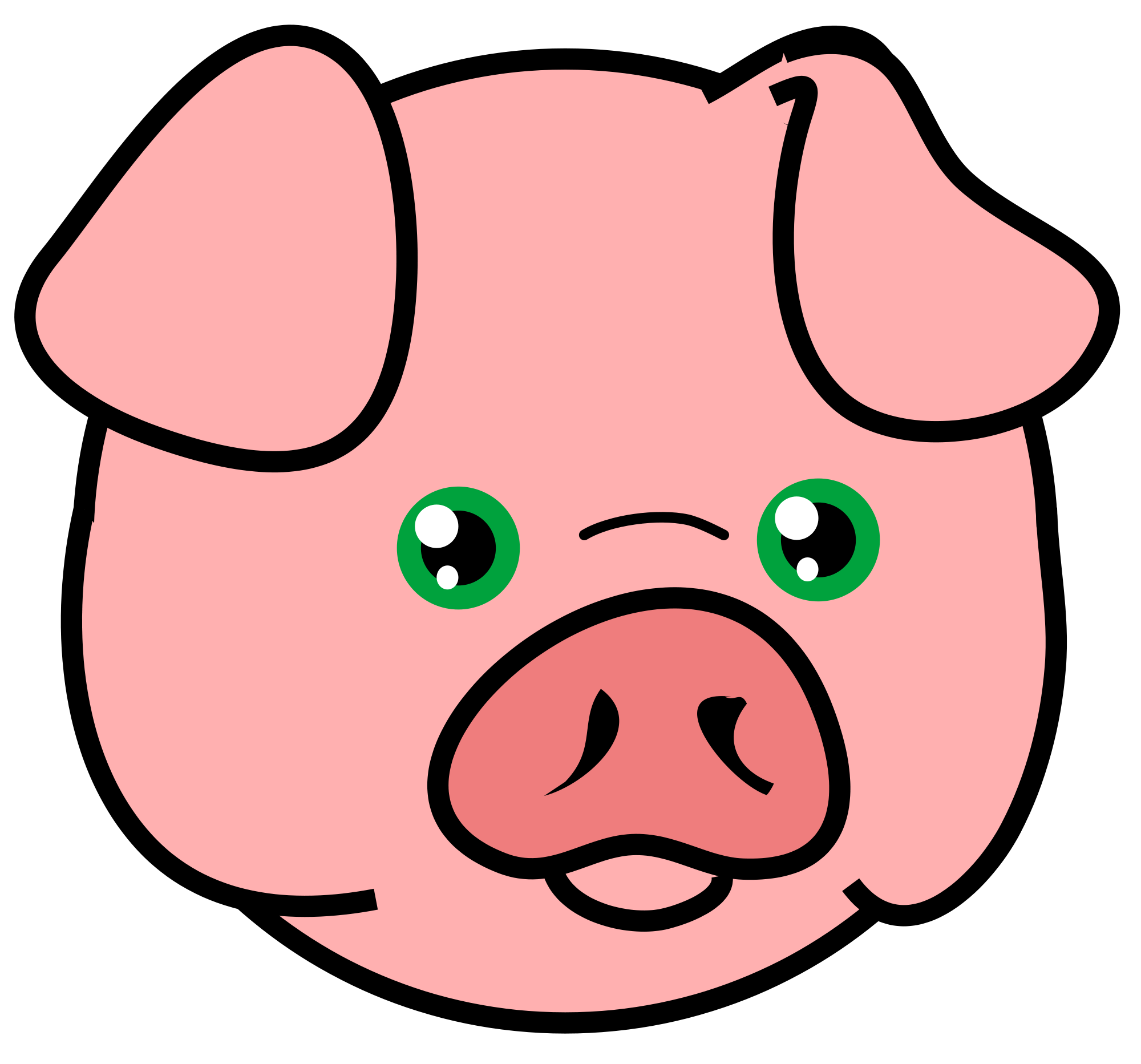 File pig icon svg. Pork drawing pog clip free library