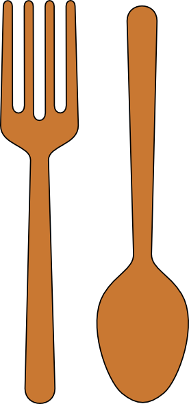 Pork drawing spoon. Clipart pencil and in