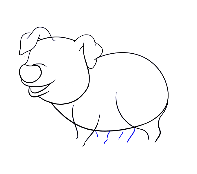Pork drawing step by. Cartoon pig pictures group