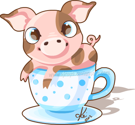 Tea cup by kinkei. Pig clip art mini pig jpg black and white stock