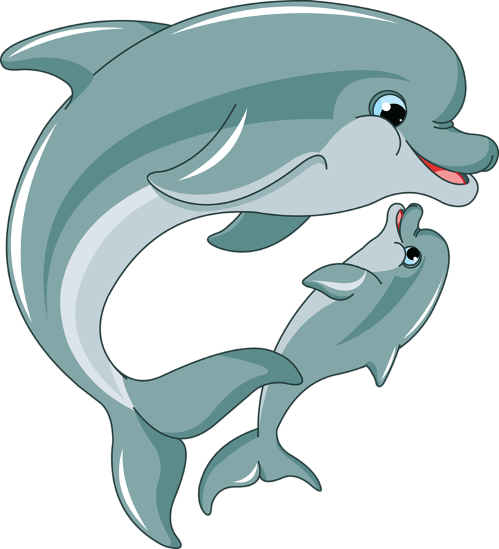 Porpoise drawing adorable. Soloveika fish and