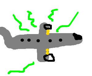Porpoise drawing bad. A plane snakes and