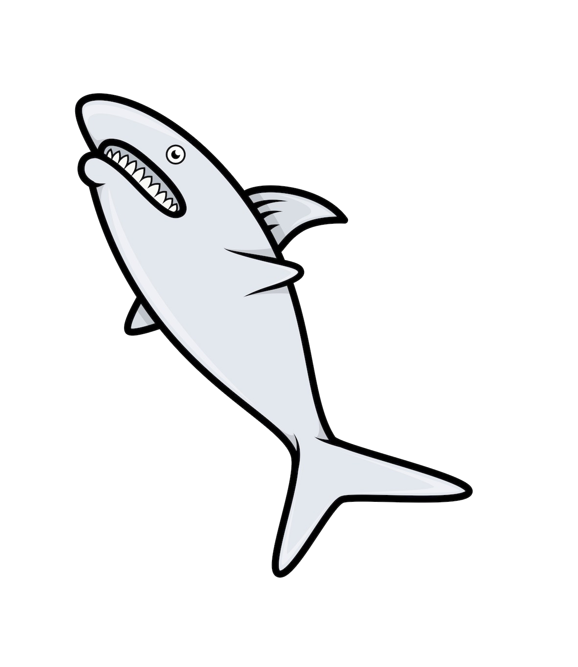 Porpoise drawing black and white. Fish royalty free illustration