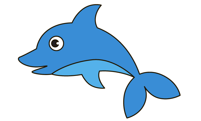 Porpoise drawing cartoon. Drawn dolphines pencil and