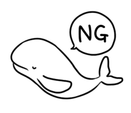 Porpoise drawing finless. Stickers by megatam sticker