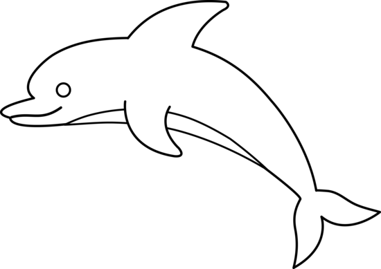 Porpoise drawing line. Free of dolphin download