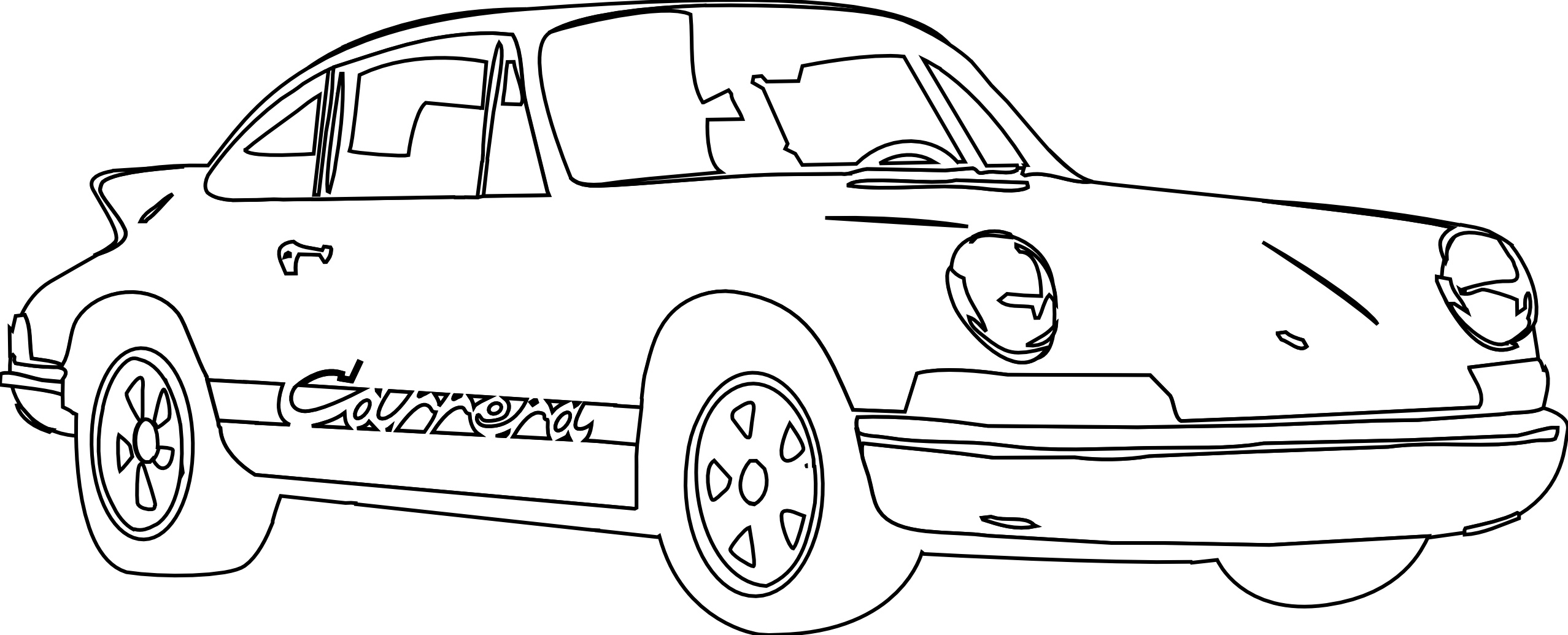 Porsche vector drawing. Free cliparts download clip
