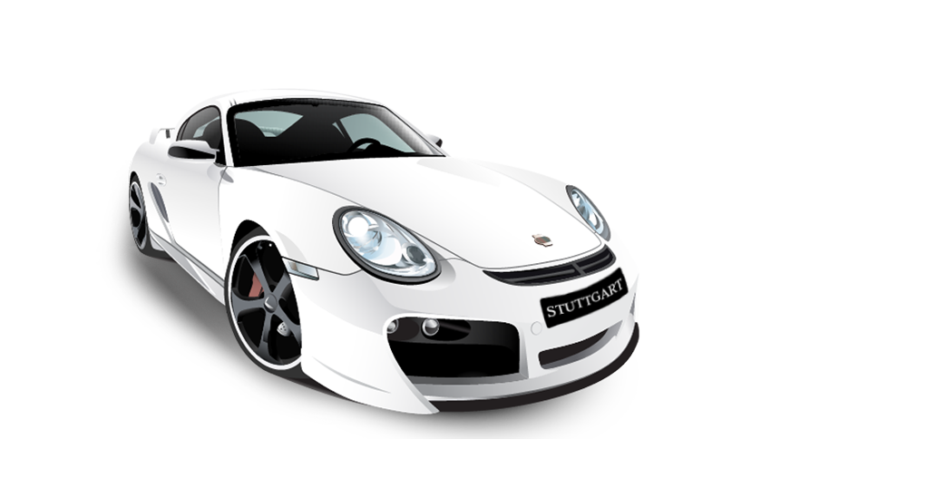 Porsche vector. White png free download