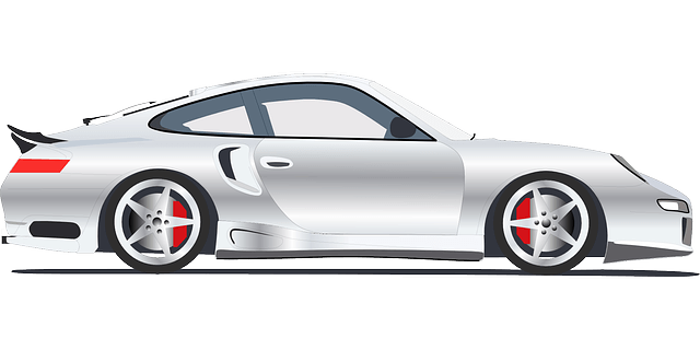 Porsche vector drawing. Automobile car sports hd